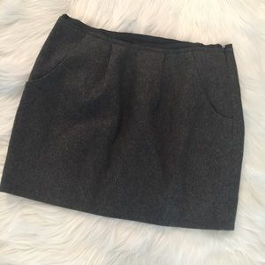 Jcrew 77% Wool Grey Mini Skirt Size 4